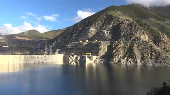 Thumbnail for Arch Dam Full of Water at Limit Capacity