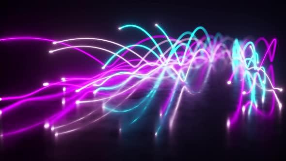 Thumbnail for Verbreitung von blauen und violetten Neonfasern