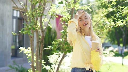Woman Enjoy Breathing Fresh Air After Quarantine