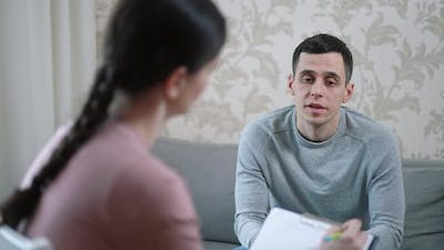 Man with Problems at a Psychologist