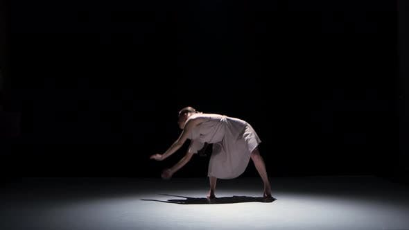 Thumbnail for Contemporary Dance Performance of Five Dancers on Black, Shadow