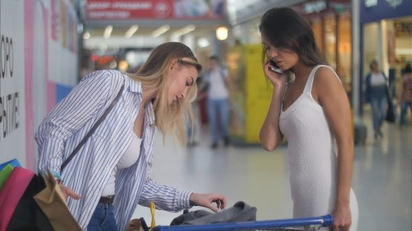 Thumbnail for Two Female Friends During Shopping