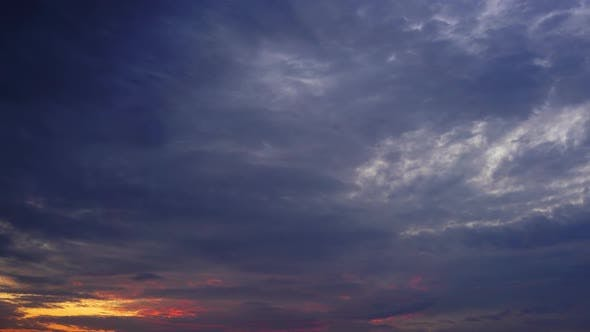 Thumbnail for Timelapse with Beautiful Sunset Sky