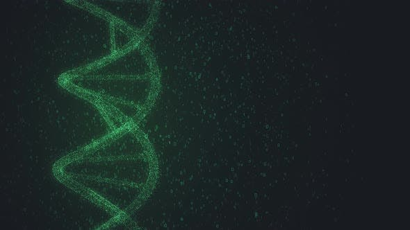 Digital Dna Molecule Structure 4k