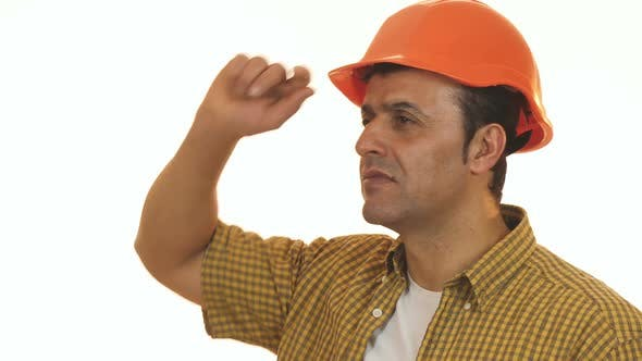 Thumbnail for Professional Contractor Looking Shocked Wearing Hardhat