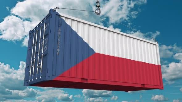 Thumbnail for Ladecontainer mit Flagge der Tschechischen Rebublic