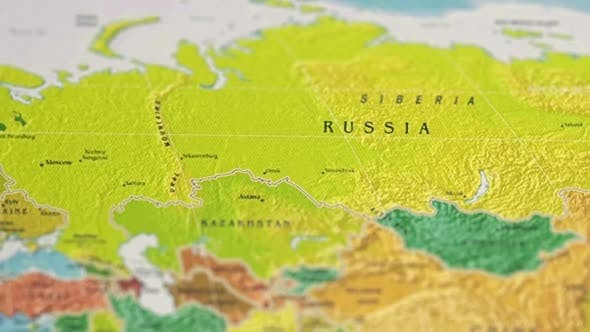 Thumbnail for Geographic Map Image Earth Surface Countries Russia And Europe