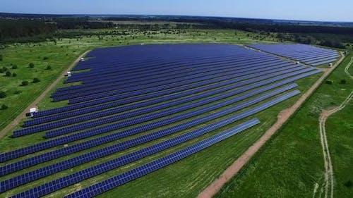 Solar Energy Farm Producing Renewable Energy From Sun