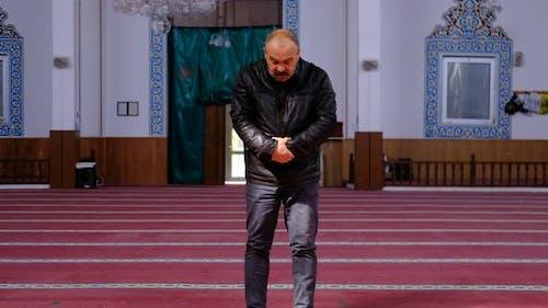 Mosque Muslim Worship Old Man