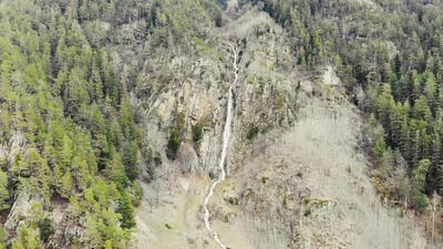 Aerial View of the Waterfall