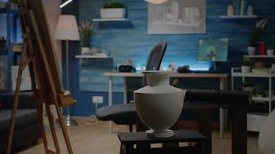 Nobody in Creative Studio with Artistic Equipment