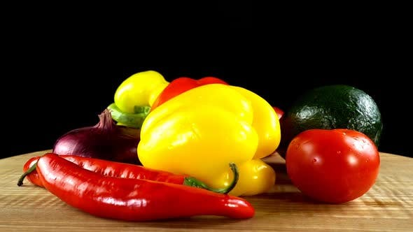 Thumbnail for Vegetables on the Black Background