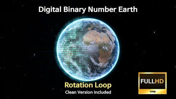 Digital Binary Number Earth Rotation Loop(2 Pack)