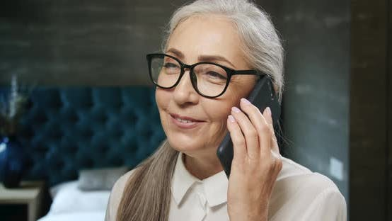 Thumbnail for Elderly Woman Talking on Smartphone