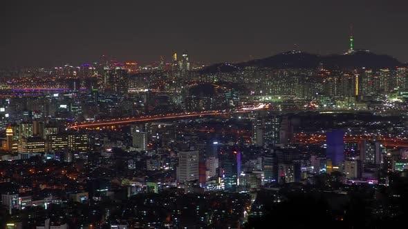 Thumbnail for Seoul Illuminated Cityscape with Skyscraper Korea