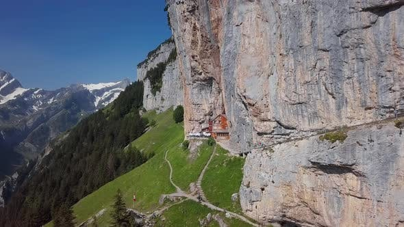 Thumbnail for Aerial View of Chalet on Ebenalp, Switzerland