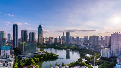 Timelapse of Wuhan city ,China