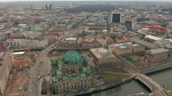 Aerial View the Berlin Cathedral