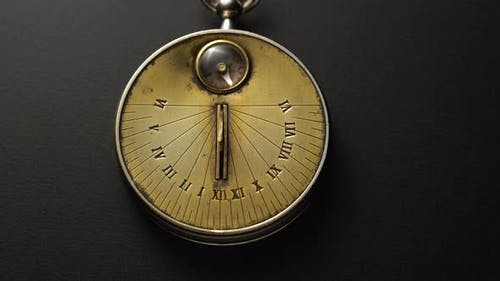 Sundown Antique Clock Shows Time