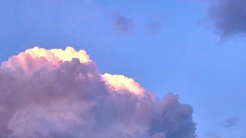 Large cumulus clouds