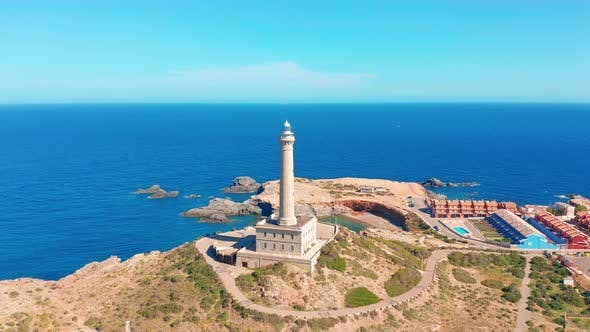 Thumbnail for Aerial Video of the Faro Cabo De Palos Lighthouse, Spain