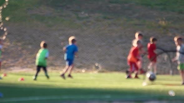 Kids on Football Training.