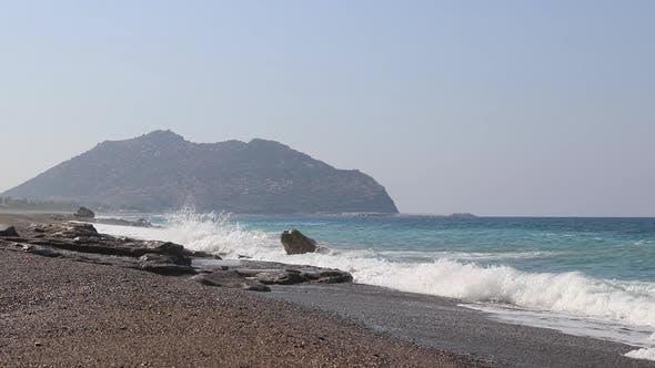 Thumbnail for Sea Waves in Antalya Beach, Mediterranean, Turkey