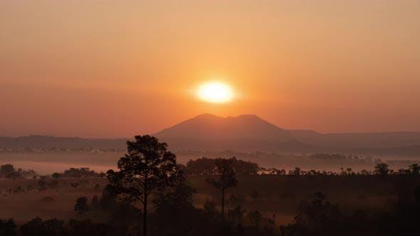 Morning Sunrise Mountain View