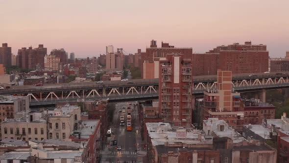 Thumbnail for Scenic Look Over New York City Bridge at Sunset