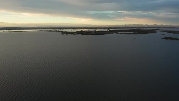 Thumbnail for Aerial View of Lake Albufera During Sunset, Valencia
