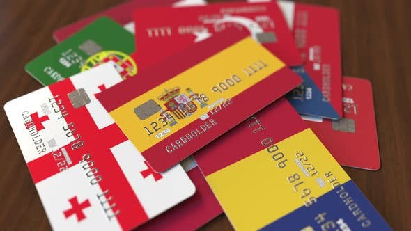 Thumbnail for Emphasized Bank Card with Flag of Spain