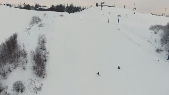 Ski Resort in the Winter Season