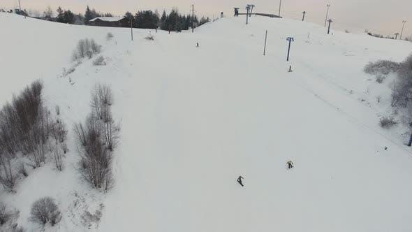 Skigebiet in der Wintersaison