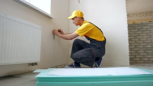 Worker Making Renovation.