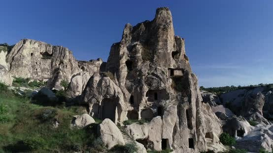 Thumbnail for Cappadocia Hills Towers And Carved Houses Aerial View
