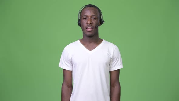 Thumbnail for Young African Man Working As Call Center Representative