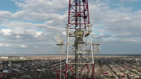 Huge Locators on TV Towers Aimed at the City