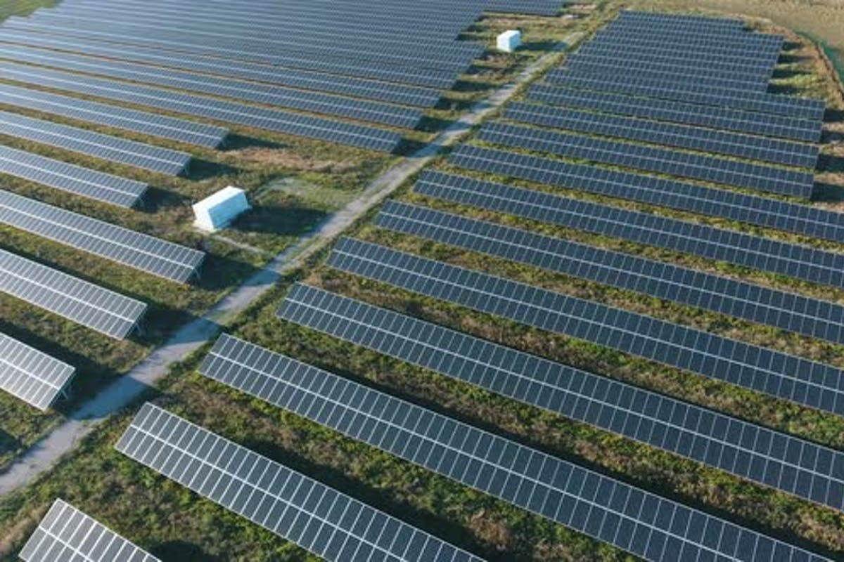 Aerial Shot Of A Solar Power Station With A Lot Of Mirror Panels Rows In Ukraine By Operator1975 On Envato Elements
