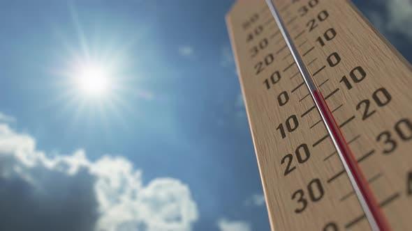 Thumbnail for Outdoor Thermometer Reaches 20 Twenty Degrees