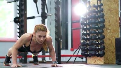Girl in Crossfit Training