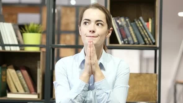 Thumbnail for Woman praying to God, Wishing