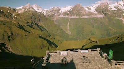 Grossglockner viewpoint in the Alps