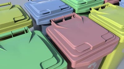 Multicolor Trash Containers