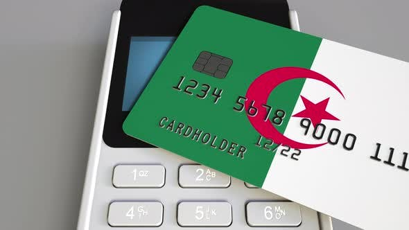 Thumbnail for Credit Card with Flag of Algeria and POS Terminal