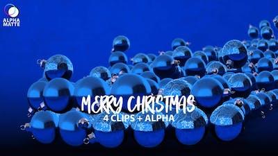 Glass Balls Revealing Merry Christmas