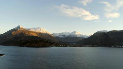 Glencoe Valley and Loch in Scotland