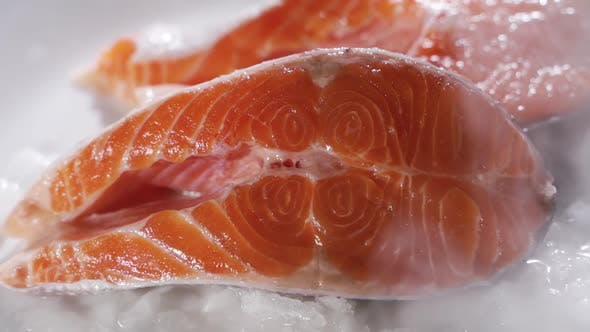 Salmon Steaks and Salmon Fillet