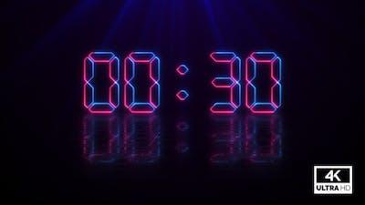 Negative Countdown 30 Seconds Neon