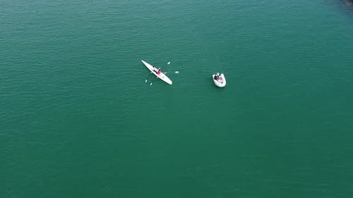 Aerial Drone Riding Canoes