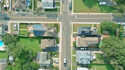 Residential Sleeping Area Street the a Keyport Town Area with Above Aerial View in New Jersey US